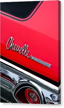 Chevrolet Chevelle Ss Taillight Emblem Canvas Print by Jill Reger