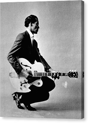 Rock Music Canvas Print - Chuck Berry by Retro Images Archive