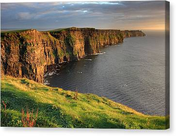 West Coast Canvas Print - Cliffs Of Moher Sunset Ireland by Pierre Leclerc Photography