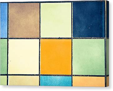 Colorful Tiles Canvas Print by Tom Gowanlock