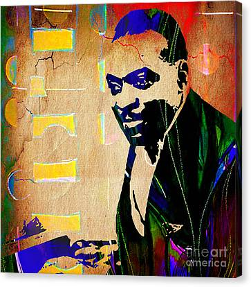 Count Basie Collection Canvas Print by Marvin Blaine