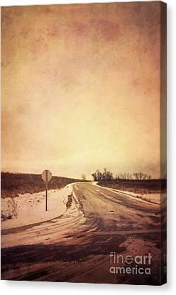 Country Road Canvas Print by Jill Battaglia