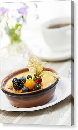 Creme Brulee Dessert Canvas Print by Elena Elisseeva