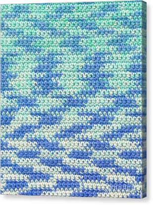 Crochet Made With Variegated Yarn Canvas Print by Kerstin Ivarsson
