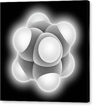 Platonic Canvas Print - Cubane Molecule by Laguna Design