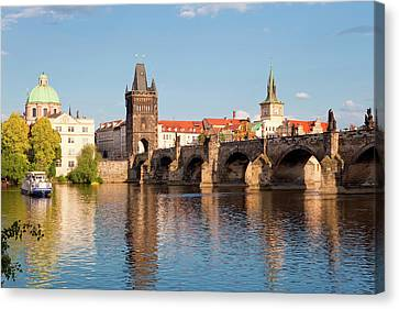 Czech Republic Prague - Charles Bridge Canvas Print by Panoramic Images