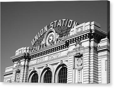 Denver - Union Station Canvas Print by Frank Romeo