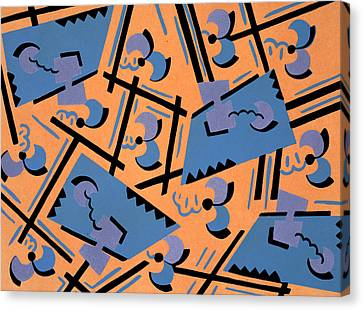 Design From Nouvelles Compositions Decoratives Canvas Print by Serge Gladky