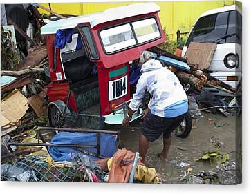 Destruction After Super Typhoon Haiyan Canvas Print by Jim Edds
