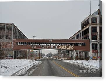 Detroit Packard Plant Canvas Print by Randy J Heath