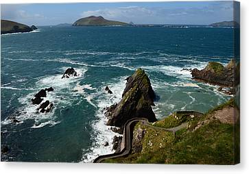 Dunquin Pier Canvas Print by Barbara Walsh