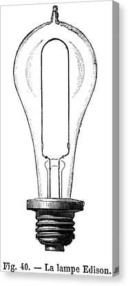 Edison Lamp, 19th Century Canvas Print by Granger