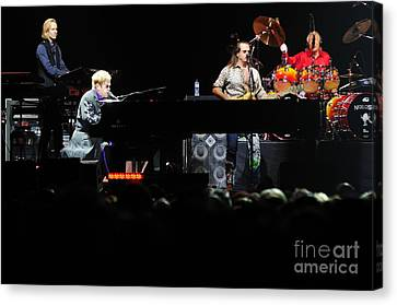 Elton John Canvas Print by Jenny Potter