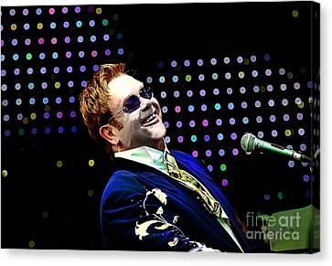 Elton John Canvas Print by Marvin Blaine