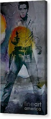 Legends Canvas Print - Elvis by Marvin Blaine