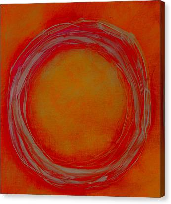 Canvas Print featuring the painting Enso by Katie Black