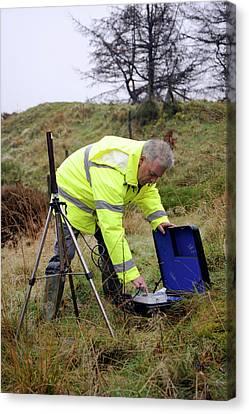 Environmental Radiation Monitoring Canvas Print by Public Health England