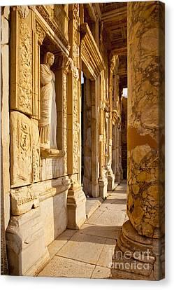 Library Of Celsus Canvas Print - Ephesus Turkey by Brian Jannsen