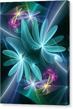 Canvas Print featuring the digital art Ethereal Flowers by Svetlana Nikolova