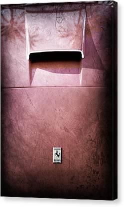 Ferrari Hood Emblem Canvas Print by Jill Reger