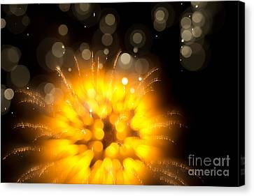 Fireworks Art Canvas Print by Benjamin Simeneta