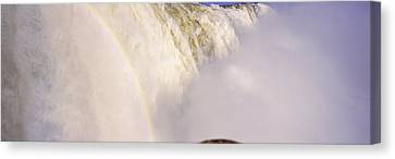 Floodwaters At Iguacu Falls, Brazil Canvas Print by Panoramic Images