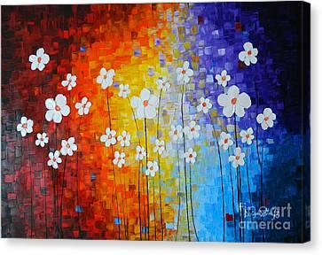 Canvas Print - Flowers After Rain by Denisa Laura Doltu