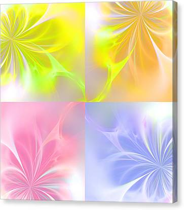 4 Flowers Canvas Print by Steve K