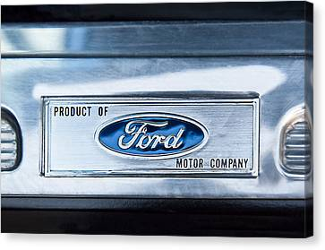 Powered By Ford Emblem -0307c Canvas Print by Jill Reger