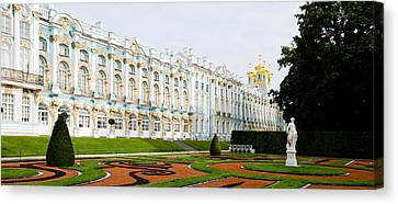 Formal Garden In Front Of A Palace Canvas Print