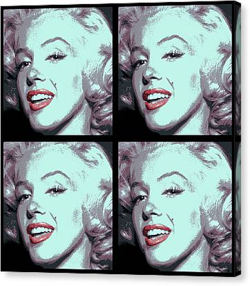 4 Frame Marilyn Pop Art Canvas Print by Daniel Hagerman