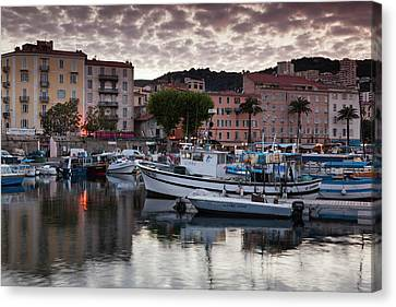 France, Corsica, Ajaccio, City View Canvas Print by Walter Bibikow