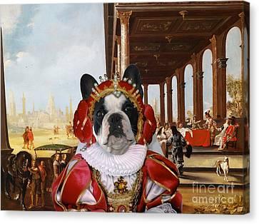 French Bulldog Art Canvas Print Canvas Print