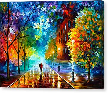 Freshness Of Cold Canvas Print by Leonid Afremov