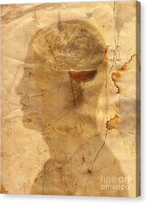 Gears In The Head Canvas Print by Michal Boubin