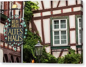 Germany, Rhineland-pfalz, Bacharach Canvas Print by Walter Bibikow