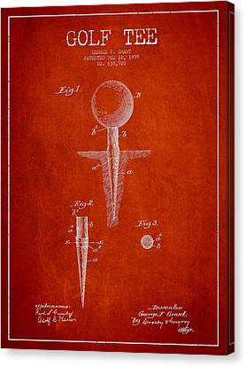 Golf Tee Patent Drawing From 1899 Canvas Print