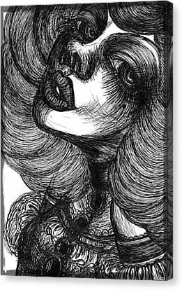 Gothic Lady Canvas Print by Akiko Okabe