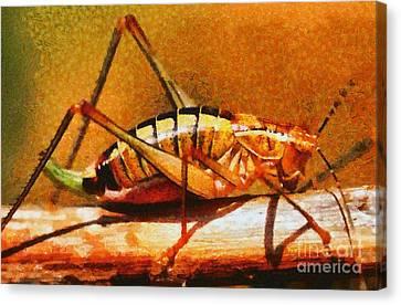 Grasshopper Canvas Print by George Atsametakis