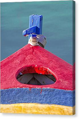 Life Line Canvas Print - Greek Fishing Boat by Stelios Kleanthous