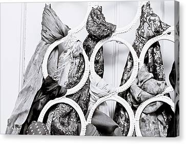 Hanging Scarfs Canvas Print