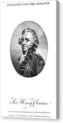 Henry Clinton (1738-1795) Canvas Print by Granger