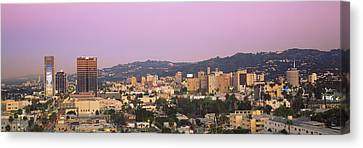 High Angle View Of A Cityscape Canvas Print