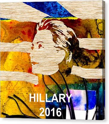 Hillary Clinton 2016 Canvas Print by Marvin Blaine