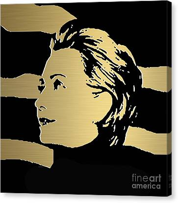 Democrats Canvas Print - Hillary Clinton Gold Series by Marvin Blaine