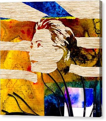 Hillary Clinton Canvas Print - Hillary Clinton by Marvin Blaine