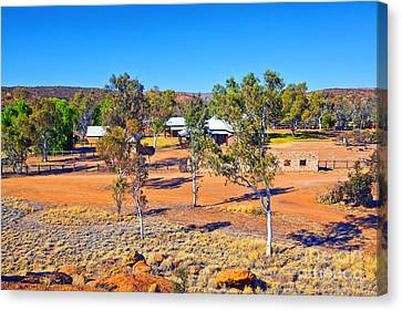Historical Telegraph Station Alice Springs  Canvas Print