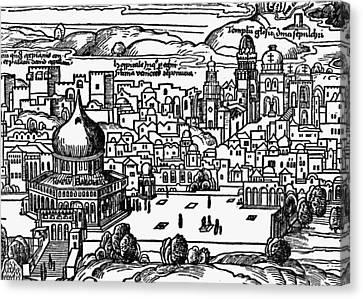 Holy Land Jerusalem Canvas Print by Granger