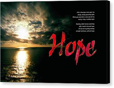 Hope Canvas Print by Chuck Mountain