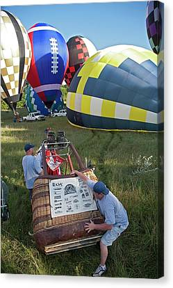Hot Air Balloon Championships Canvas Print by Jim West